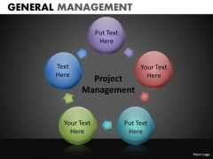Project Management Circle Chart With Spherical Stages PowerPoint Slides Download