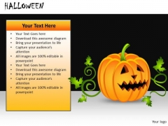 Pumpkin PowerPoint Graphics Halloween Ppt Slides