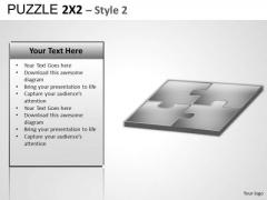 Puzzle 2x2 2 PowerPoint Editable Clipart