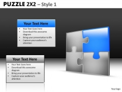Puzzle Chart With Highlighted Jigsaw PowerPoint Templates Editable Ppt Slides