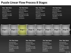 Puzzle Linear Flow Process 8 Stages Flowchart Examples PowerPoint Slides