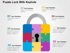 Puzzle Lock With Keyhole PowerPoint Templates