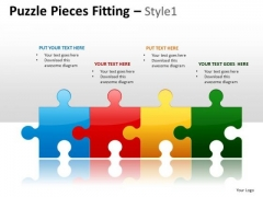 Puzzle Process Flow PowerPoint Slides And Ppt Diagram Templates