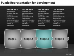 Puzzle Representation For Development Network Mapping PowerPoint Slides