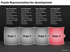 Puzzle Representation For Development Production Flow Chart PowerPoint Slides
