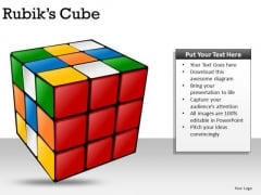 Puzzle Rubiks Cube PowerPoint Slides And Ppt Diagram Templates