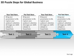 Puzzle Steps For Global Business PowerPoint Theme Buy Plan Templates