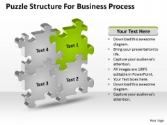 Puzzle Structure For Business Process Ppt Help With A Plan PowerPoint Slides
