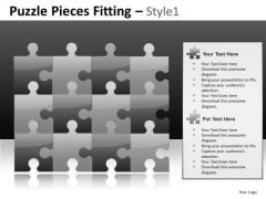 Puzzle Wall PowerPoint Slides