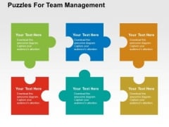 Puzzles For Team Management PowerPoint Template