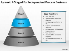 Pyramid 4 Staged For Independent Process Business Ppt Creating Plan PowerPoint Slides