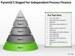 Pyramid 5 Staged For Independent Process Finance Ppt Business Planning PowerPoint Slides