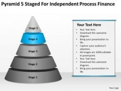 Pyramid 5 Staged For Independent Process Finance Ppt Massage Business Plan PowerPoint Templates