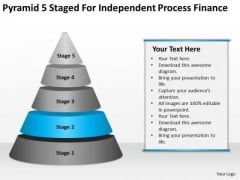 Pyramid 5 Staged For Independent Process Finance Ppt Templates Business PowerPoint Slides