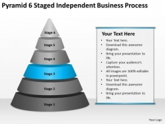 Pyramid 6 Staged Independent Business Process Ppt Consulting Plan PowerPoint Templates