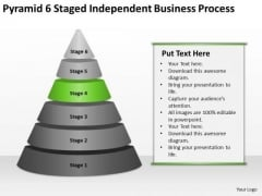 Pyramid 6 Staged Independent Business Process Ppt Plan Guide PowerPoint Slides