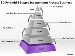 Pyramid 6 Staged Independent Process Business Ppt Plan For PowerPoint Slides