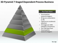 Pyramid 7 Staged Dependent Process Business Ppt Exit Strategy Plan PowerPoint Templates