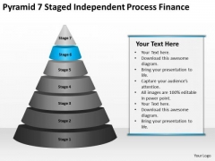 Pyramid 7 Staged Independent Process Finance Ppt Business Plan Example Free PowerPoint Templates