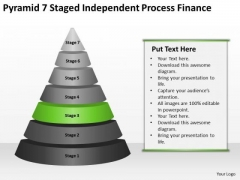 Pyramid 7 Staged Independent Process Finance Ppt Business Plan Format PowerPoint Slides