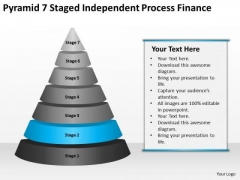Pyramid 7 Staged Independent Process Finance Ppt Business Plan PowerPoint Templates