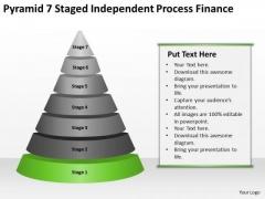 Pyramid 7 Staged Independent Process Finance Ppt Linear Flow PowerPoint Templates