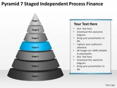 Pyramid 7 Staged Independent Process Finance Ppt Online Business Plans PowerPoint Templates
