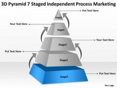 Pyramid 7 Staged Independent Process Marketing Ppt Developing Business Plan PowerPoint Templates