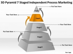 Pyramid 7 Staged Independent Process Marketing Ppt Starting Your Own Business PowerPoint Slides