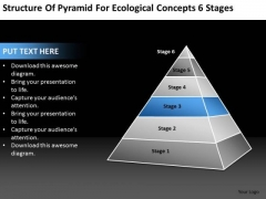 Pyramid For Ecological Concepts 6 Stages Ppt Business Plan PowerPoint Slides