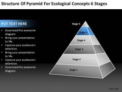 Pyramid For Ecological Concepts 6 Stages Ppt Example Of Small Business Plan PowerPoint Slides