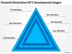 Pyramid Illustration Of 5 Development Stages Ppt Business Plan PowerPoint Templates