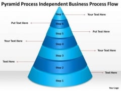 Pyramid Process Independent Business Flow Plan Outlines PowerPoint Slides