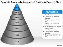 Pyramid Process Independent Business Flow Ppt Outline Plan PowerPoint Slides