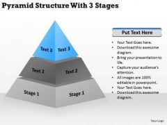 Pyramid Structur With 3 Stages Ppt Handyman Business Plan PowerPoint Slides