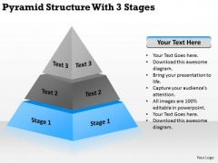 Pyramid Structur With 3 Stages Ppt Simple Business Plan PowerPoint Templates