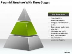 Pyramid Structure With Three Stages Ppt Business Plan For Free PowerPoint Slides