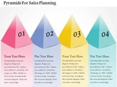 Pyramids For Sales Planning PowerPoint Template