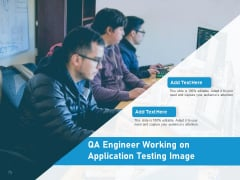 QA Engineer Working On Application Testing Image Ppt PowerPoint Presentation File Example Introduction PDF