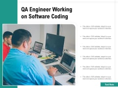 QA Engineer Working On Software Coding Ppt PowerPoint Presentation Gallery Themes PDF