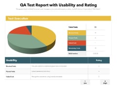 QA Test Report With Usability And Rating Ppt PowerPoint Presentation File Files PDF