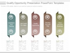Qualify Opportunity Presentation Powerpoint Templates