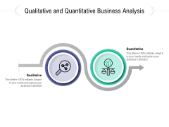 Qualitative And Quantitative Business Analysis Ppt PowerPoint Presentation Layouts Themes PDF