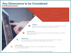 Qualitative Concept Testing Key Dimensions To Be Considered Ppt PowerPoint Presentation Portfolio Aids PDF