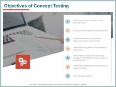 Qualitative Concept Testing Objectives Of Concept Testing Ppt PowerPoint Presentation Layouts Example PDF