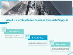 Qualitative Market Research Study About Us For Qualitative Business Research Proposal Mockup PDF