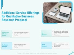 Qualitative Market Research Study Additional Service Offerings For Qualitative Business Proposal Slides PDF