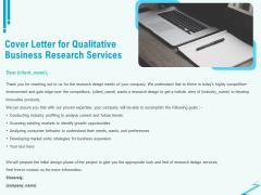 Qualitative Market Research Study Cover Letter For Qualitative Business Research Services Portrait PDF