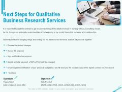 Qualitative Market Research Study Next Steps For Qualitative Business Research Services Elements PDF