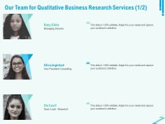 Qualitative Market Research Study Our Team For Qualitative Business Services Information PDF